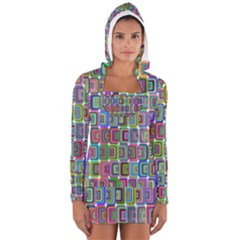 Psychedelic 70 S 1970 S Abstract Women s Long Sleeve Hooded T-shirt by Nexatart