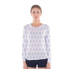 Ornamental Decorative Floral Women s Long Sleeve Tee