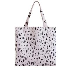 Paisley Floral Flourish Decorative Zipper Grocery Tote Bag