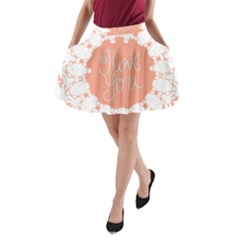 Mandala I Love You A-Line Pocket Skirt by Nexatart