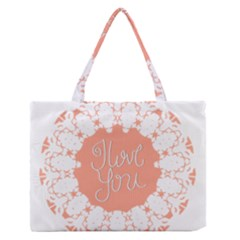 Mandala I Love You Medium Zipper Tote Bag