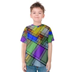 Abstract Background Pattern Kids  Cotton Tee