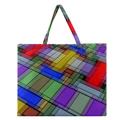 Abstract Background Pattern Zipper Large Tote Bag by Nexatart
