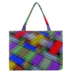 Abstract Background Pattern Medium Zipper Tote Bag