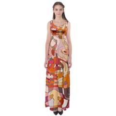 Abstract Abstraction Pattern Modern Empire Waist Maxi Dress by Nexatart