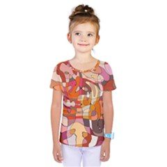 Abstract Abstraction Pattern Modern Kids  One Piece Tee by Nexatart