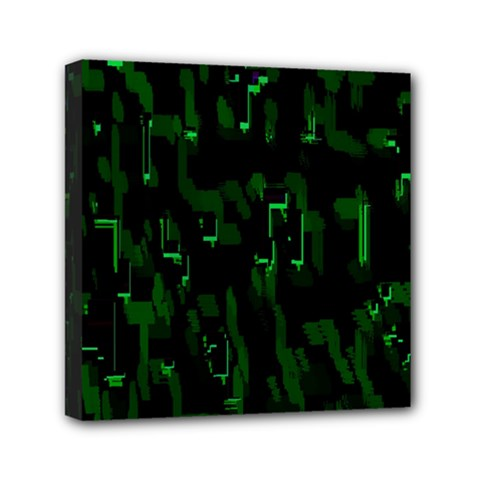 Abstract Art Background Green Mini Canvas 6  X 6