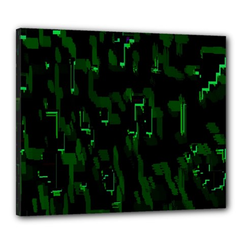 Abstract Art Background Green Canvas 24  X 20  by Nexatart