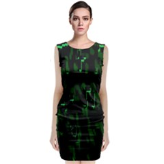 Abstract Art Background Green Classic Sleeveless Midi Dress