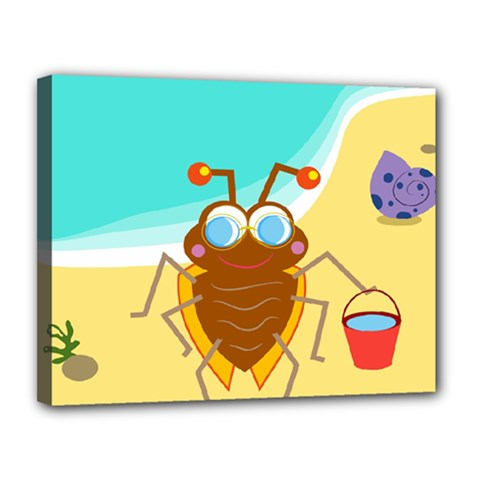 Animal Nature Cartoon Bug Insect Canvas 14  X 11  by Nexatart