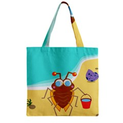 Animal Nature Cartoon Bug Insect Zipper Grocery Tote Bag
