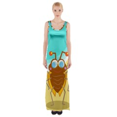 Animal Nature Cartoon Bug Insect Maxi Thigh Split Dress by Nexatart
