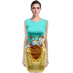 Animal Nature Cartoon Bug Insect Classic Sleeveless Midi Dress