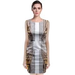 Architecture Facade Buildings Windows Classic Sleeveless Midi Dress