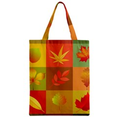 Autumn Leaves Colorful Fall Foliage Zipper Classic Tote Bag by Nexatart