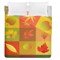 Autumn Leaves Colorful Fall Foliage Duvet Cover Double Side (queen Size) by Nexatart