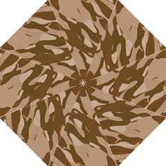 Background For Scrapbooking Or Other Beige And Brown Camouflage Patterns Hook Handle Umbrellas (large) by Nexatart