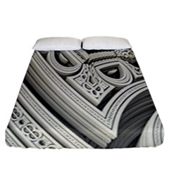 Arches Fractal Chaos Church Arch Fitted Sheet (king Size) by Nexatart