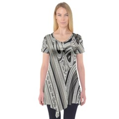 Arches Fractal Chaos Church Arch Short Sleeve Tunic  by Nexatart