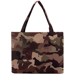 Background For Scrapbooking Or Other Camouflage Patterns Beige And Brown Mini Tote Bag by Nexatart