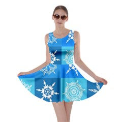 Background Blue Decoration Skater Dress