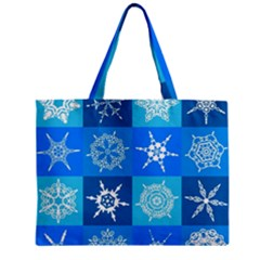 Background Blue Decoration Zipper Mini Tote Bag