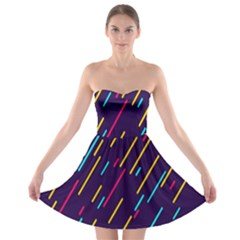 Background Lines Forms Strapless Bra Top Dress by Nexatart