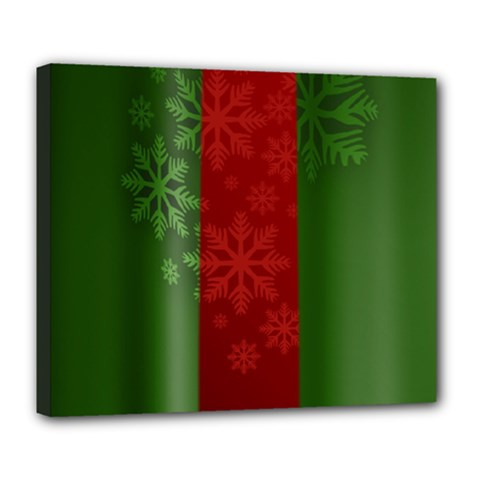 Background Christmas Deluxe Canvas 24  X 20