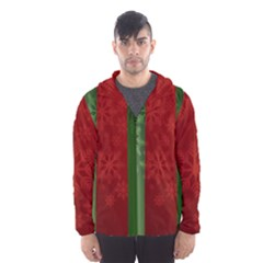 Background Christmas Hooded Wind Breaker (men) by Nexatart