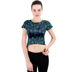 Background Abstract Textile Design Crew Neck Crop Top