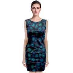Background Abstract Textile Design Classic Sleeveless Midi Dress