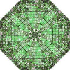 Background Of Green Squares Straight Umbrellas by Nexatart