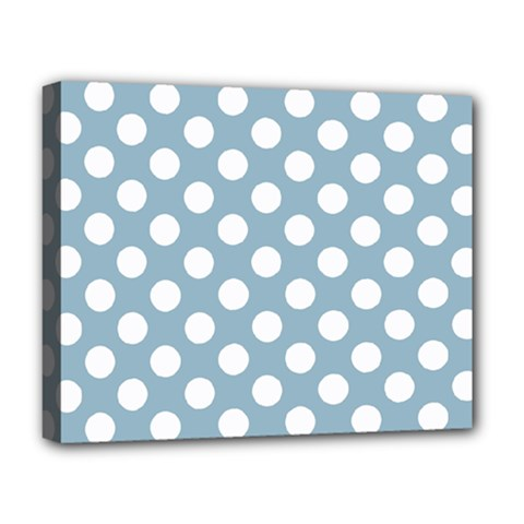 Blue Polkadot Background Deluxe Canvas 20  X 16