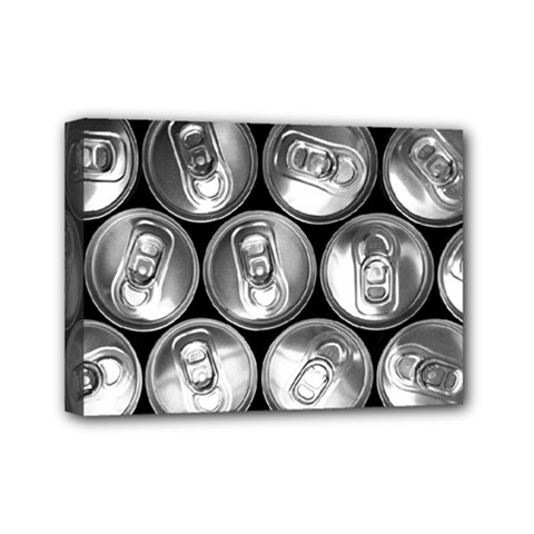 Black And White Doses Cans Fuzzy Drinks Mini Canvas 7  X 5