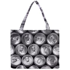 Black And White Doses Cans Fuzzy Drinks Mini Tote Bag by Nexatart