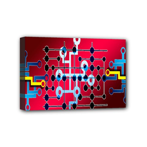 Board Circuits Trace Control Center Mini Canvas 6  X 4