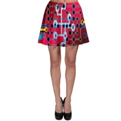 Board Circuits Trace Control Center Skater Skirt