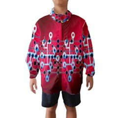 Board Circuits Trace Control Center Wind Breaker (Kids) by Nexatart