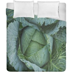 Bright Cabbage Color Dew Flora Duvet Cover Double Side (california King Size) by Nexatart