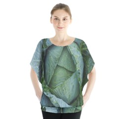 Bright Cabbage Color Dew Flora Blouse by Nexatart