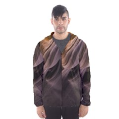 Canyon Desert Landscape Pattern Hooded Wind Breaker (men)
