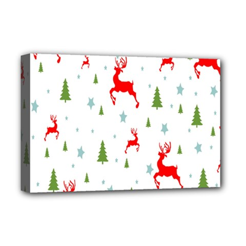 Christmas Pattern Deluxe Canvas 18  X 12   by Nexatart