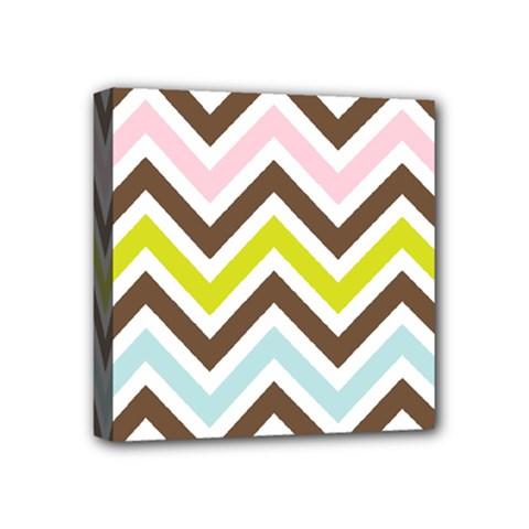 Chevrons Stripes Colors Background Mini Canvas 4  X 4  by Nexatart
