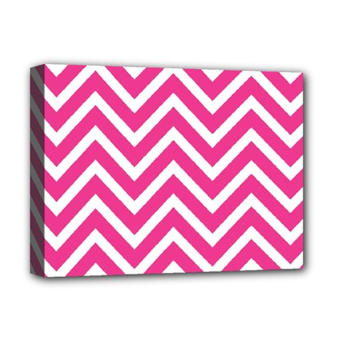 Chevrons Stripes Pink Background Deluxe Canvas 16  X 12