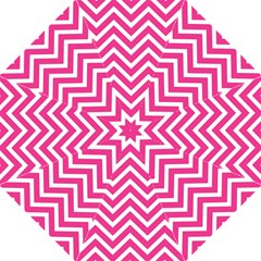 Chevrons Stripes Pink Background Hook Handle Umbrellas (large)