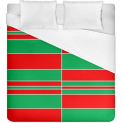 Christmas Colors Red Green Duvet Cover (king Size) by Nexatart