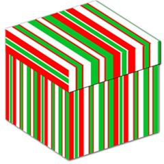 Christmas Holiday Stripes Red Green,white Storage Stool 12   by Nexatart