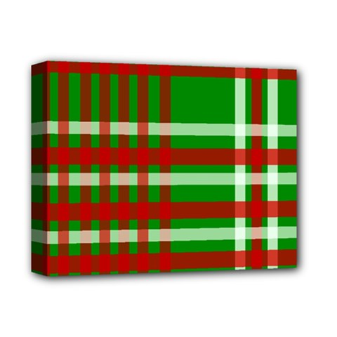Christmas Colors Red Green White Deluxe Canvas 14  X 11