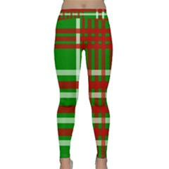 Christmas Colors Red Green White Classic Yoga Leggings by Nexatart