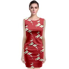 Christmas Card Christmas Card Classic Sleeveless Midi Dress
